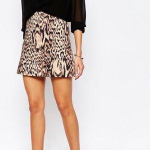Mango MNG Leopard Animal Print Mini Skirt NEW Sz 4
